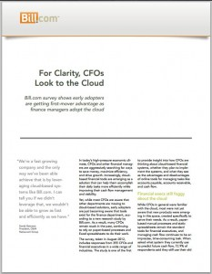 Bill.com CFO Survey AP in the Cloud