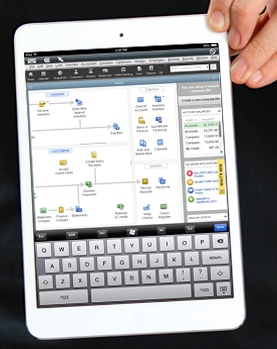 QuickBooks desktop using iPad cloud computing from Cloud9