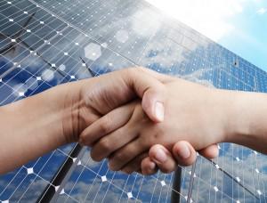handshake and sunlight